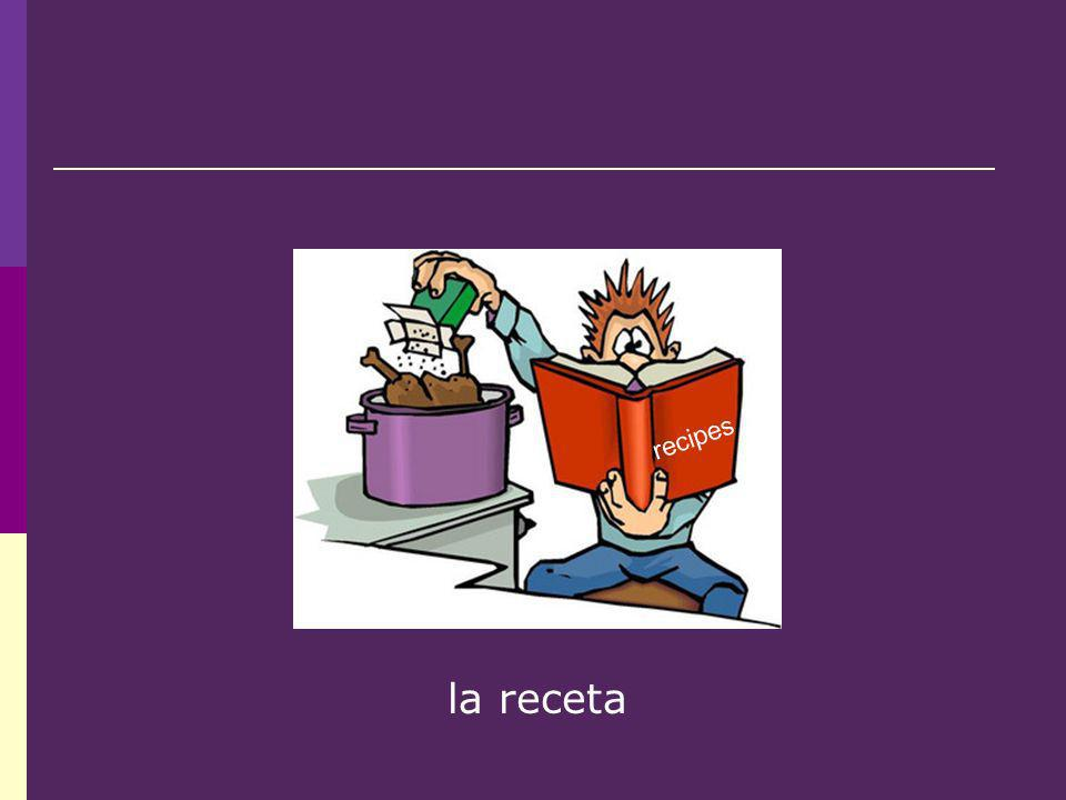 la receta recipes