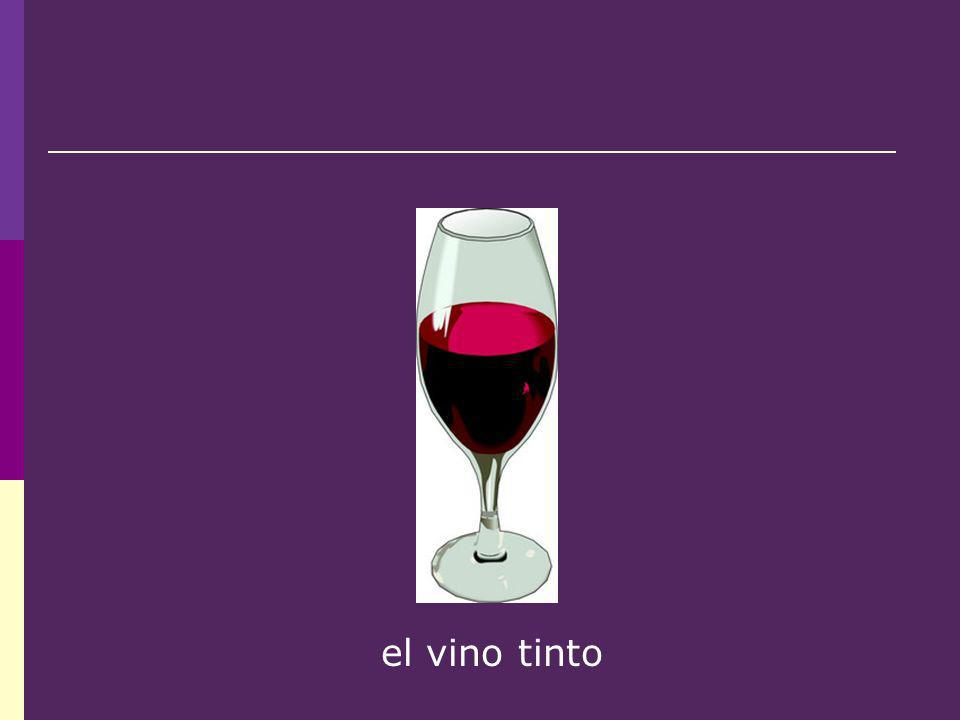 el vino tinto