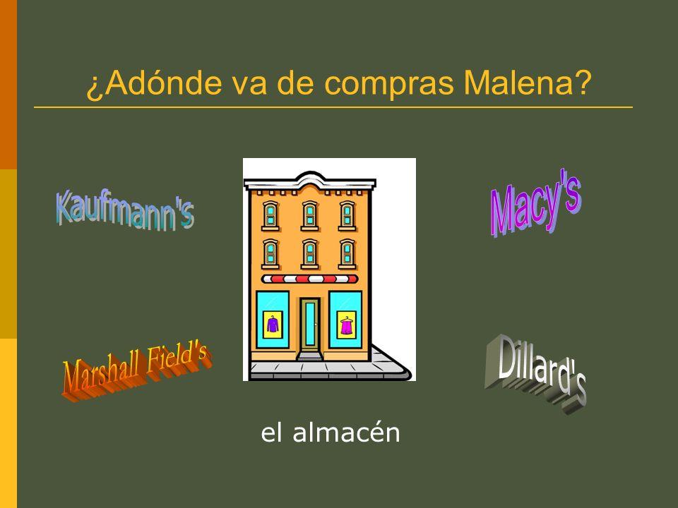 ¿Adónde va de compras Malena? el almacén