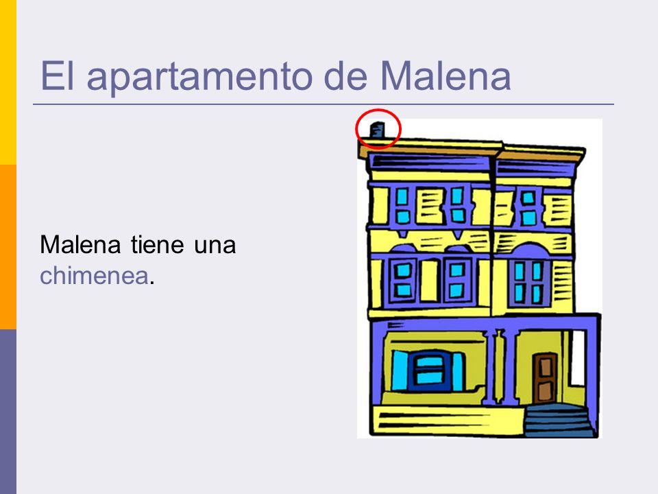 El apartamento de Malena Malena tiene una chimenea.