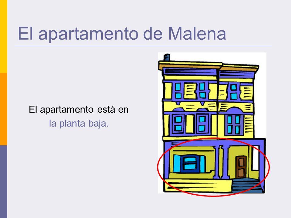 El apartamento de Malena El apartamento está en la planta baja.