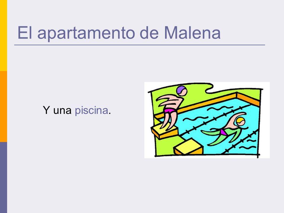 El apartamento de Malena Y una piscina.