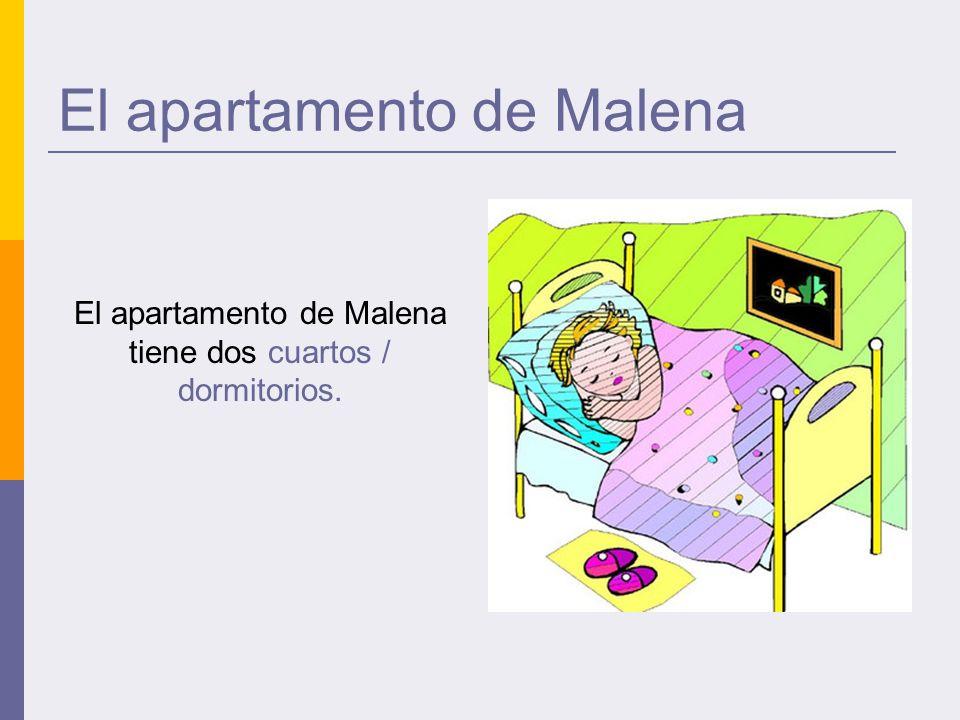 El apartamento de Malena El apartamento de Malena tiene dos cuartos / dormitorios.