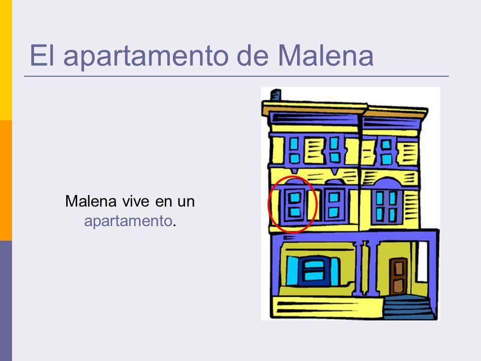 El apartamento de Malena Malena vive en un apartamento.