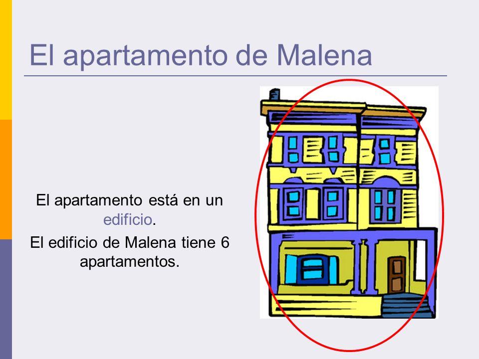 El apartamento de Malena El apartamento está en un edificio.