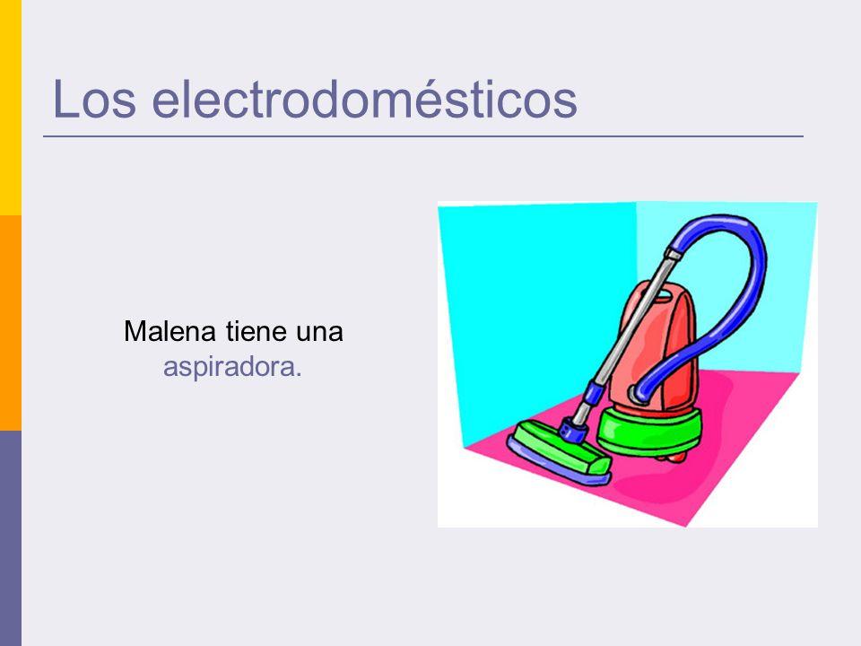 Los electrodomésticos Malena tiene una aspiradora.