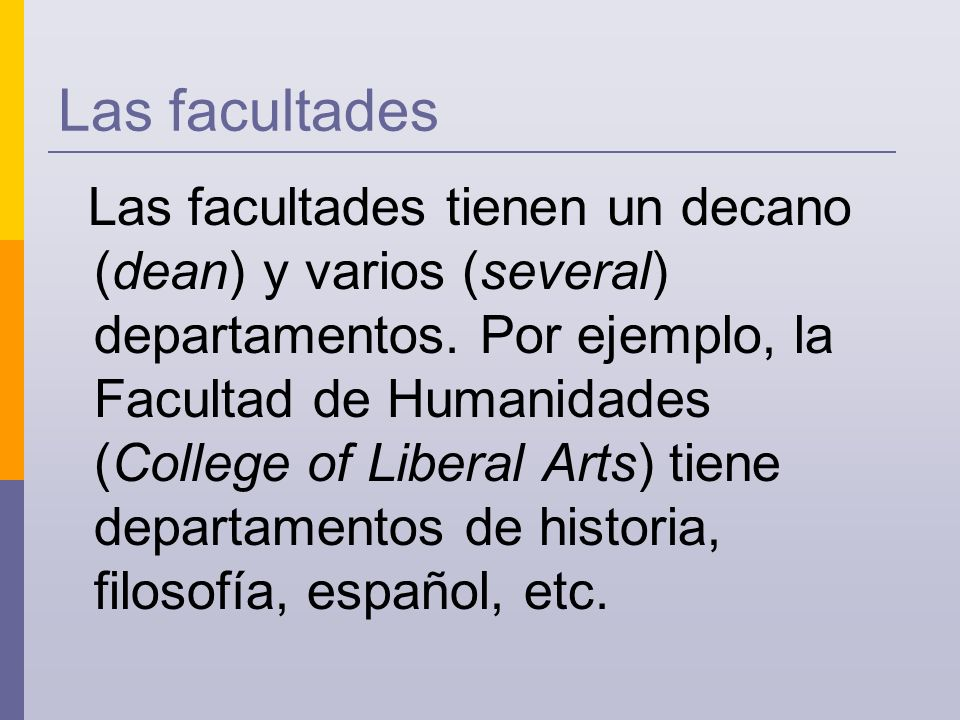 Otros lugares. There are also other places on campus.