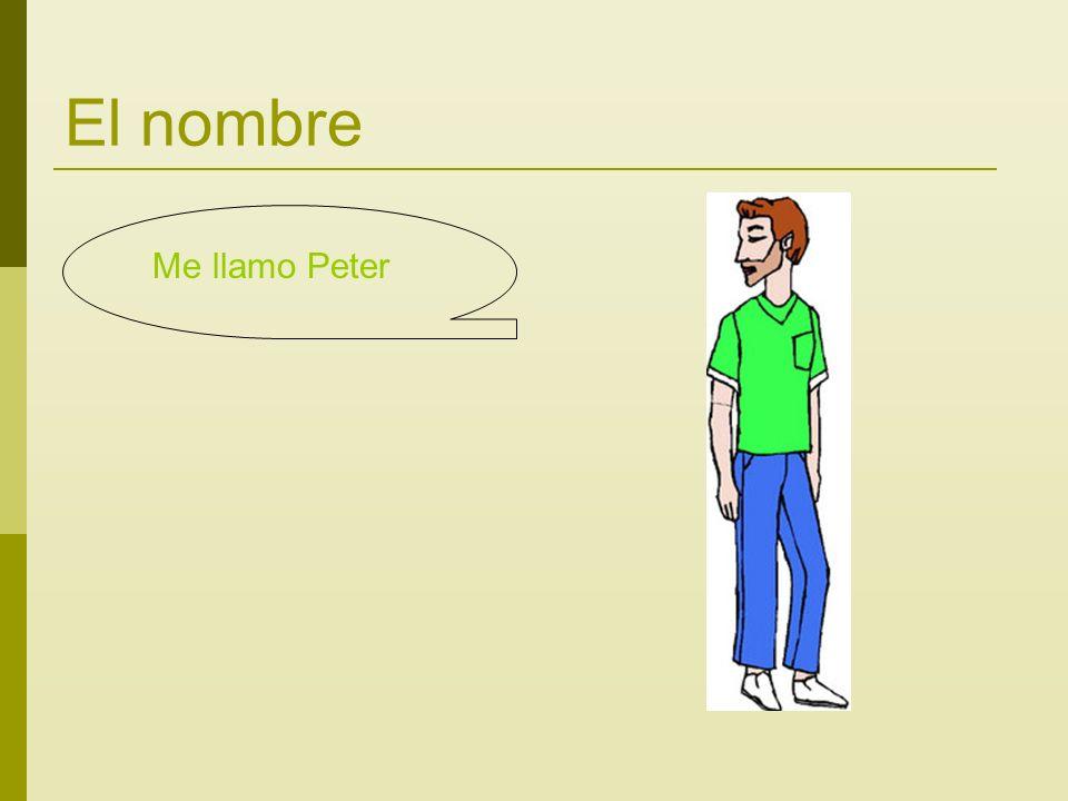 El nombre Me llamo Peter