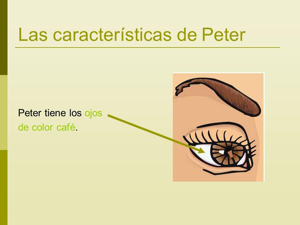 Las características de Peter Peter tiene los ojos de color café.