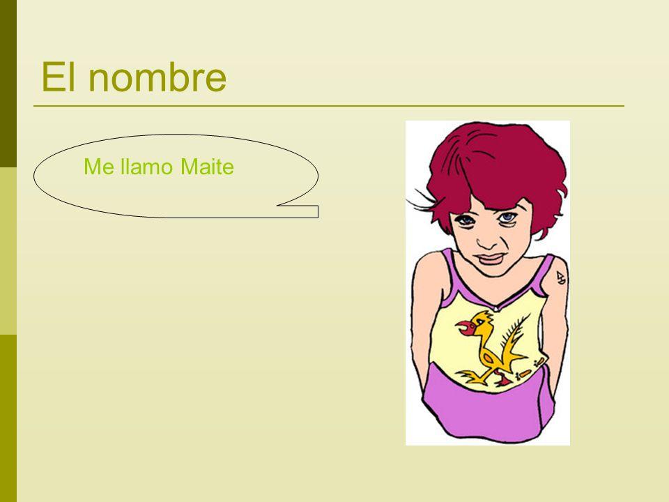 El nombre Me llamo Maite