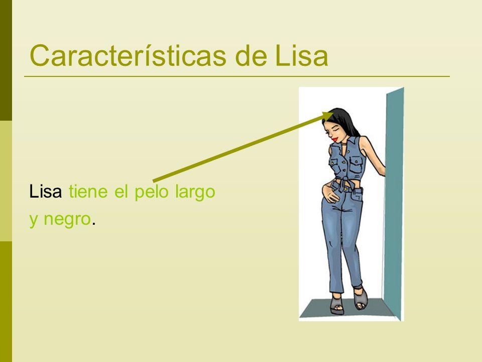 Características de Lisa Lisa tiene el pelo largo y negro.