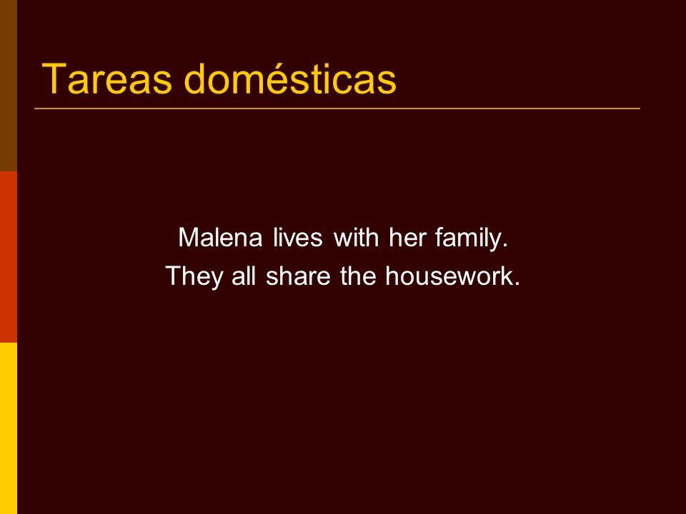 Práctica Who does the following housework.
