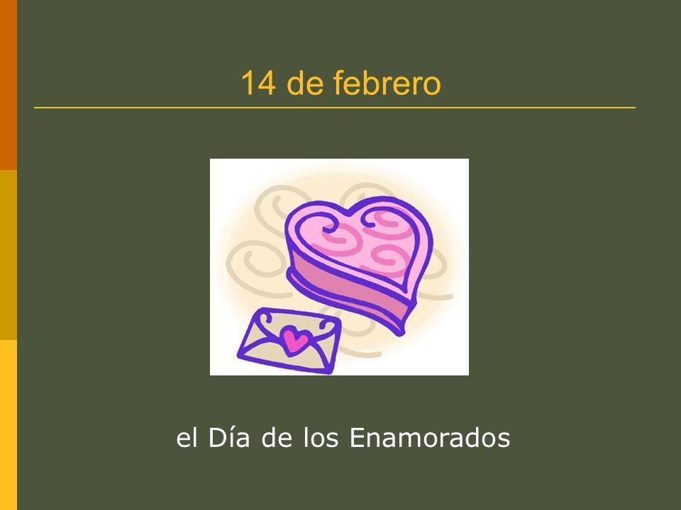 14 de febrero el Día de los Enamorados