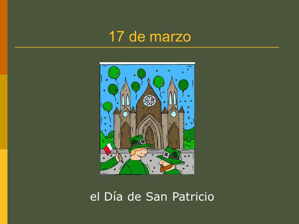 17 de marzo el Día de San Patricio