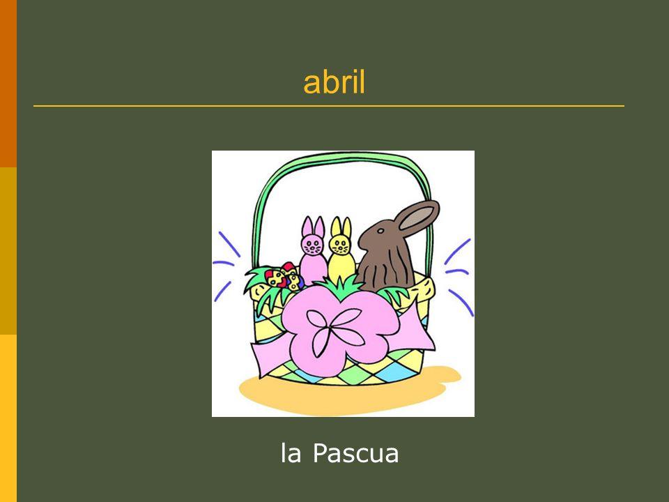 abril la Pascua