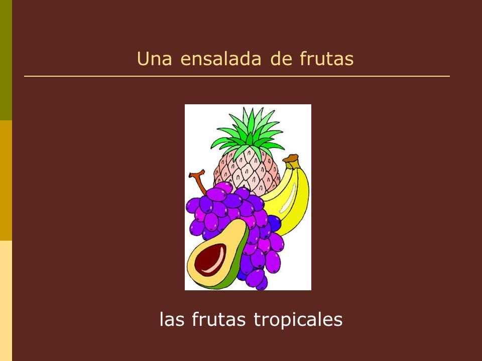 las frutas tropicales Una ensalada de frutas