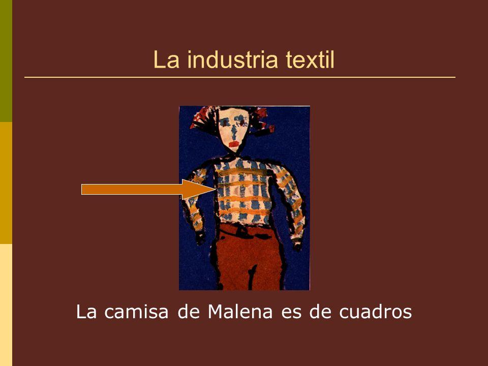La industria textil La camisa de Malena es de cuadros