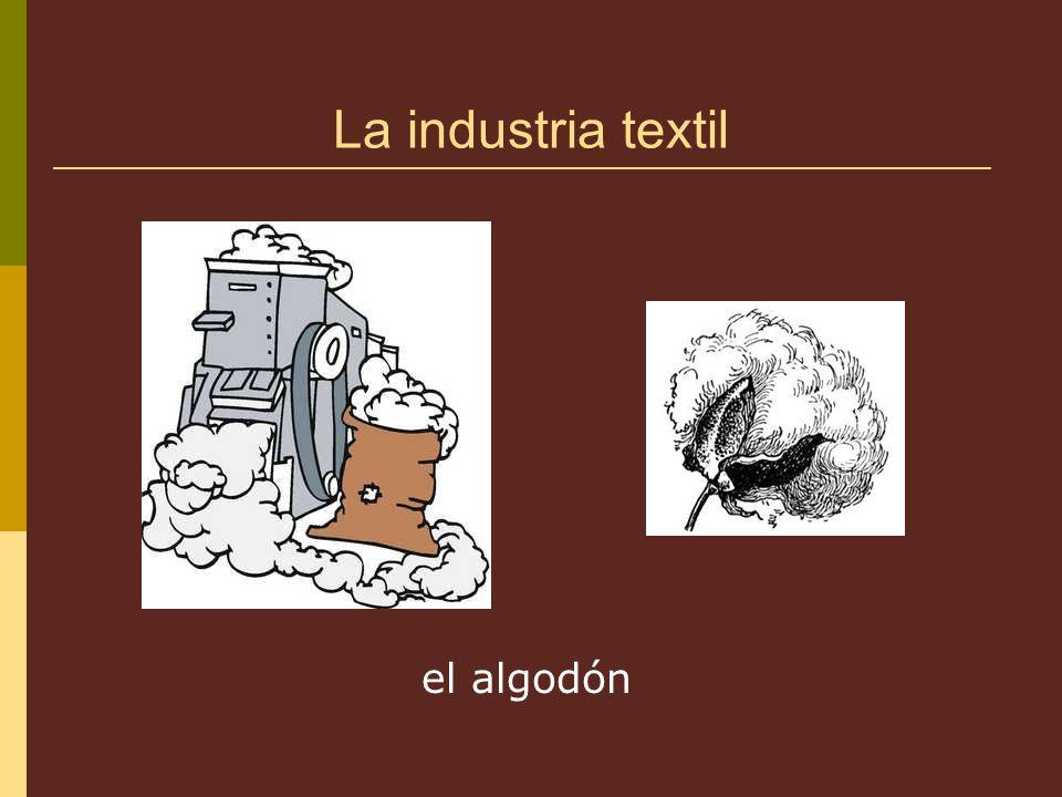 La industria textil el algodón