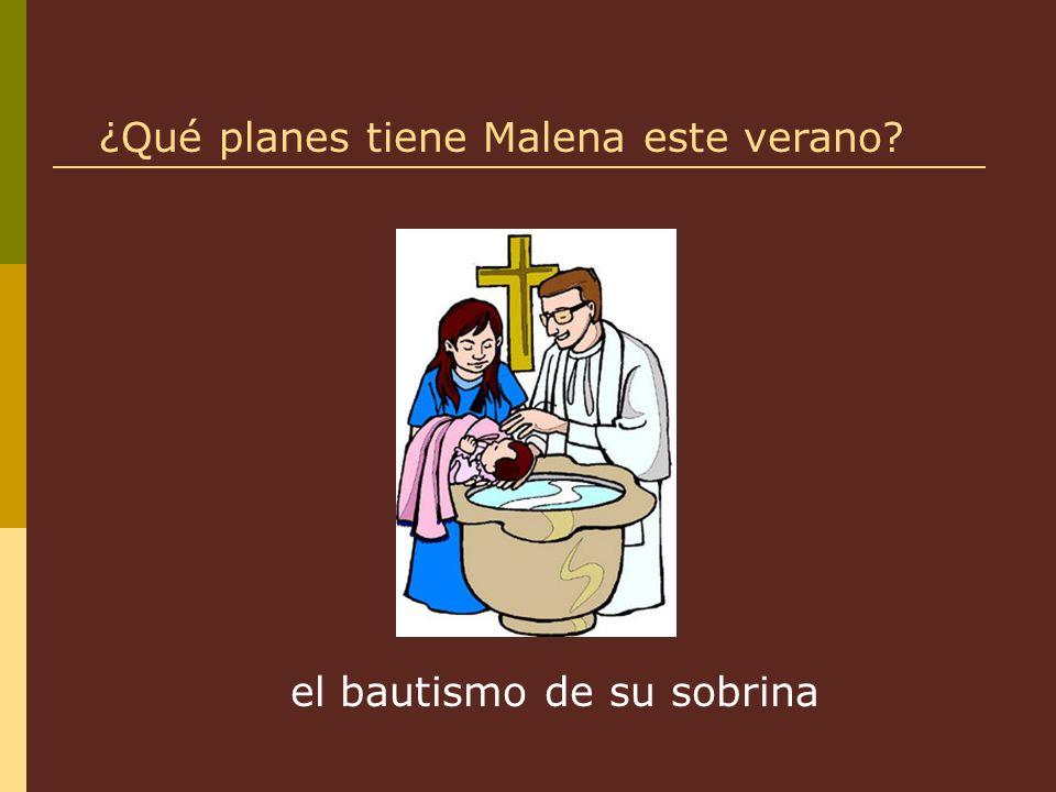 el bautismo de su sobrina ¿Qué planes tiene Malena este verano?
