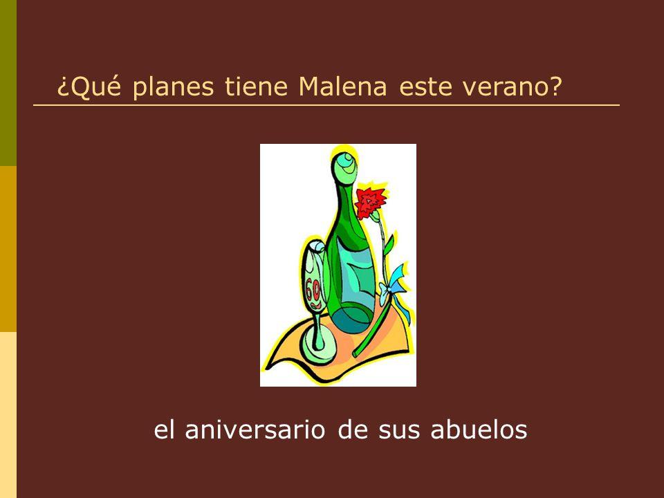 el aniversario de sus abuelos ¿Qué planes tiene Malena este verano?
