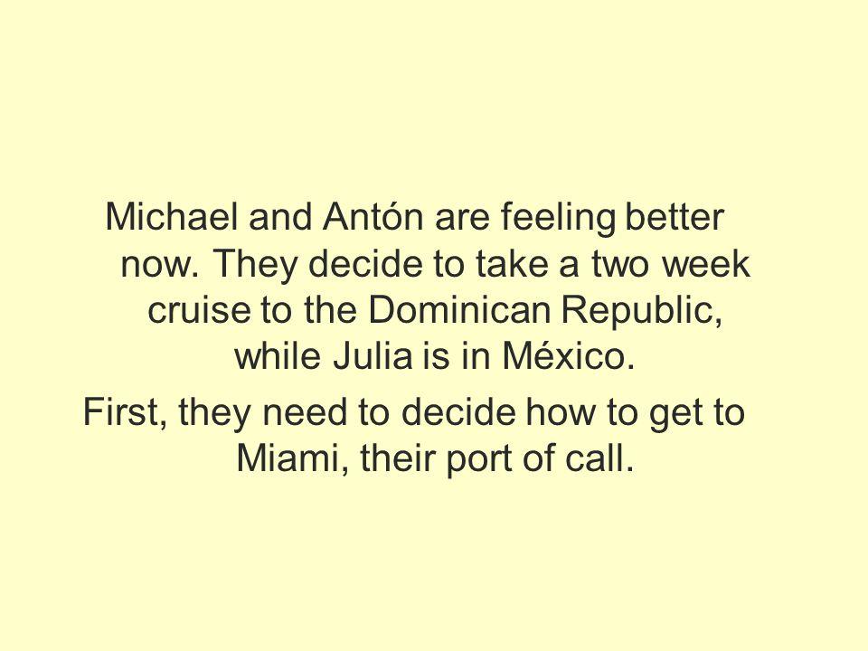 Medios de transporte el tren Pueden tomar el tren para llegar a Miami.
