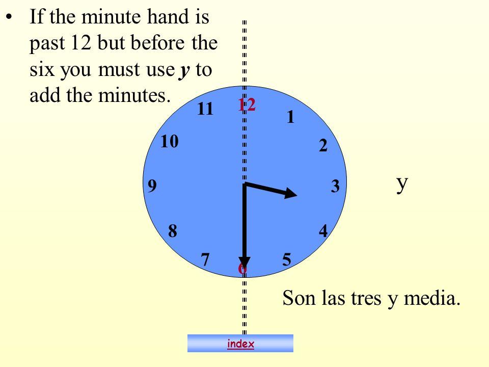 ¿Qué hora es? Son las tres. index