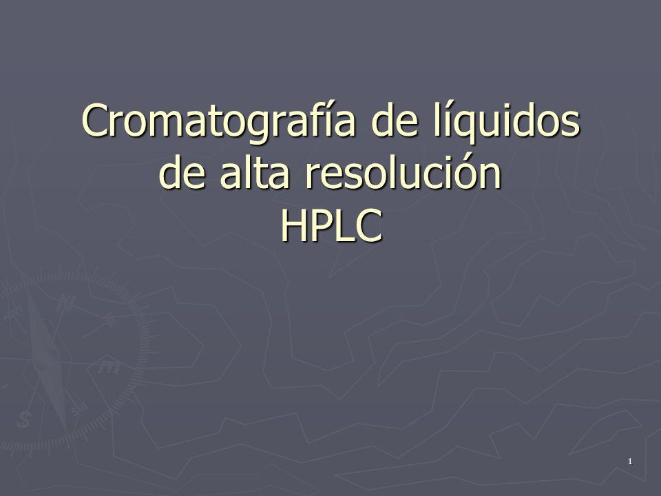 1 Cromatografía de líquidos de alta resolución HPLC