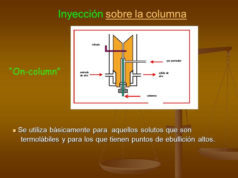 Se utiliza básicamente para aquellos solutos que son Se utiliza básicamente para aquellos solutos que son termolábiles y para los que tienen puntos de