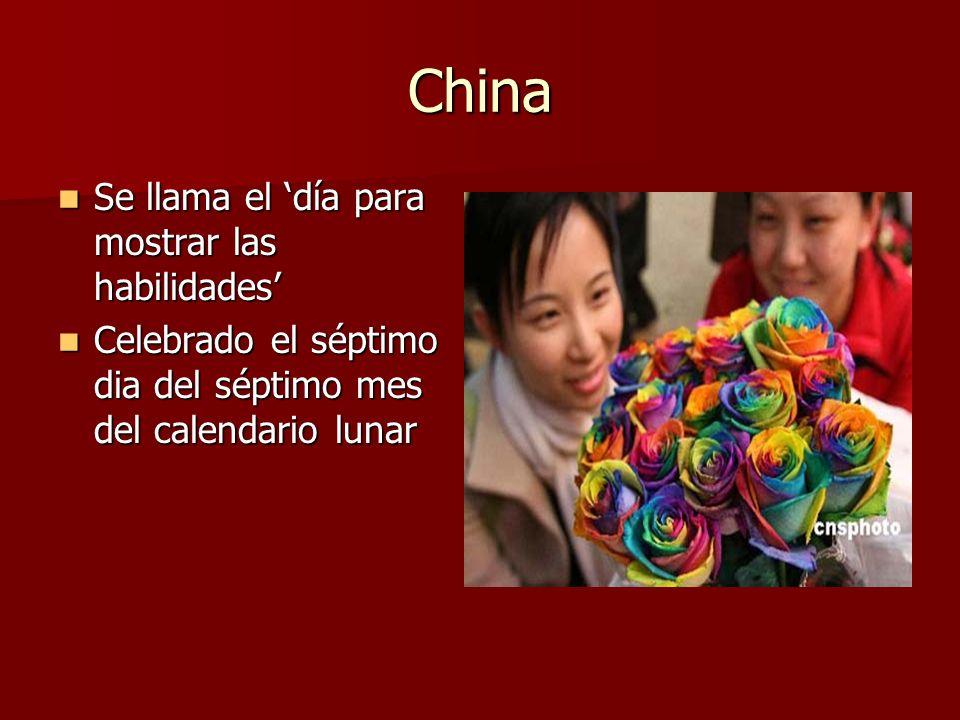 China Se llama el día para mostrar las habilidades Se llama el día para mostrar las habilidades Celebrado el séptimo dia del séptimo mes del calendari