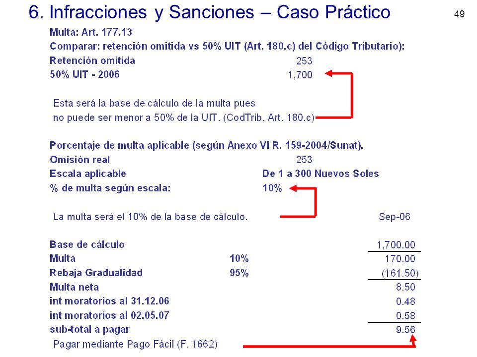 49 6. Infracciones y Sanciones – Caso Práctico