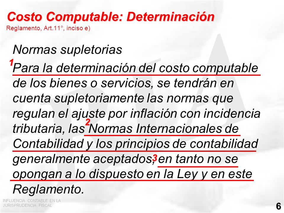 INFLUENCIA CONTABLE EN LA JURISPRUDENCIA FISCAL 7 Gastos inherentes a rentas gravadas y no gravadas LIR, Art.