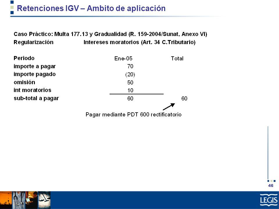 46 Retenciones IGV – Ambito de aplicación