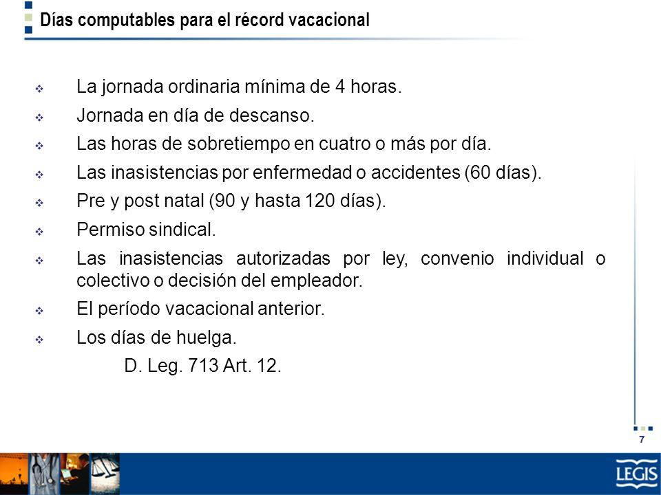 18 Caso práctico de reducción del descanso El trabajador gana S/.