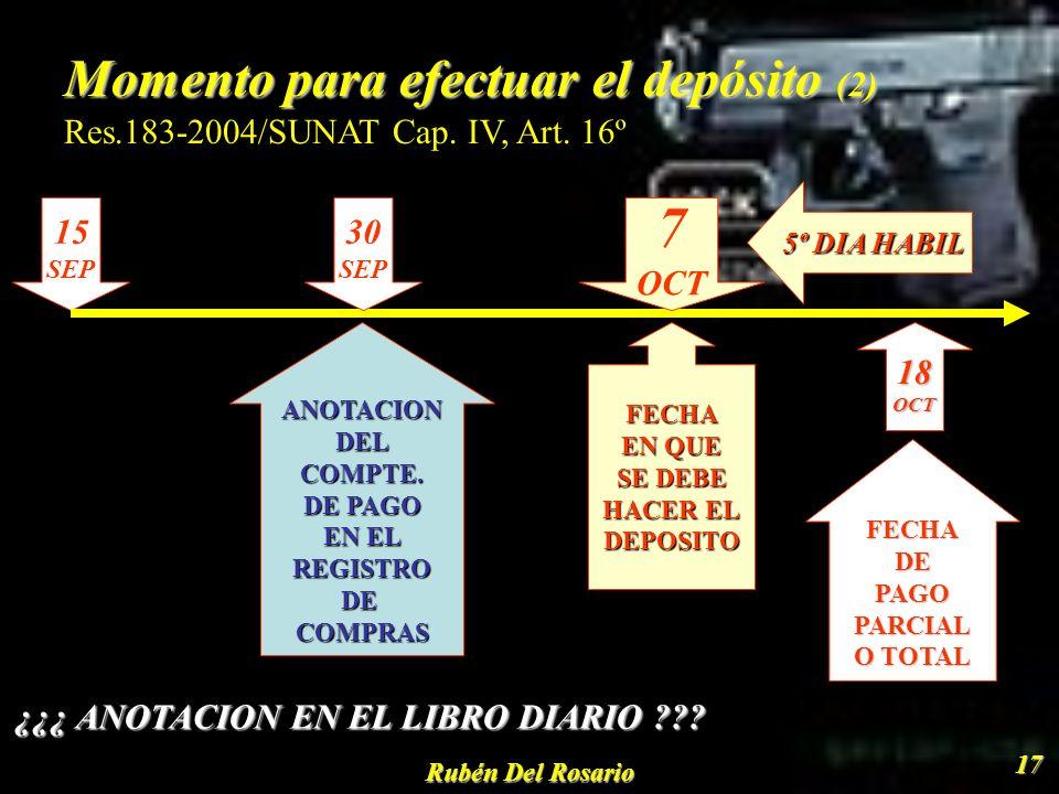 Rubén Del Rosario 18 Titulares de la cuenta Titulares de la cuenta D.Leg.940, Art.6º PROVEEDOR BIEN MUEBLE O INMUEBLE PRESTADOR DEL SERVICIO EJECUTOR CONTRATO DE CONSTRUCCIÓN SUJETO DEL IGV RETIRO DE BIENES PROPIETARIO QUE REALIZA O ENCARAG EL TRASLADO