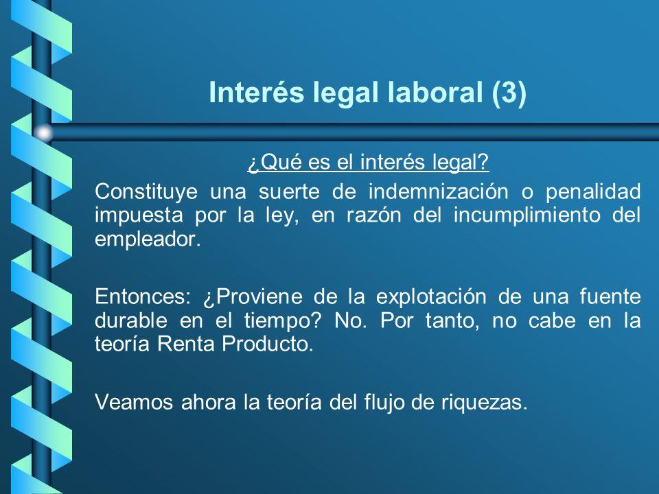 Interés legal laboral (3) ¿Qué es el interés legal? Constituye una suerte de indemnización o penalidad impuesta por la ley, en razón del incumplimient