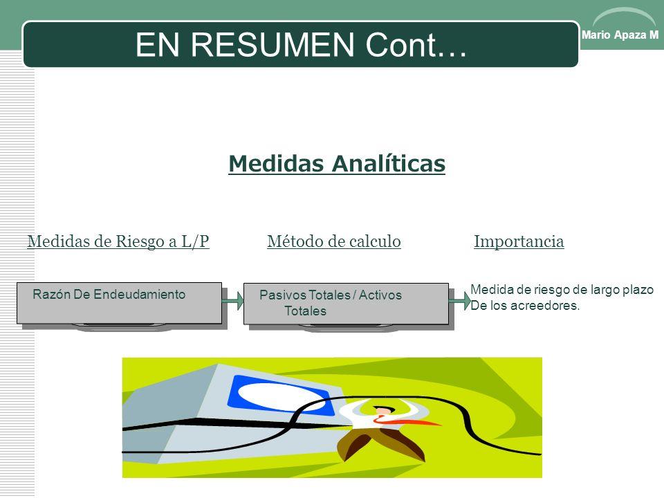 Mario Apaza M EN RESUMEN 1.En los estados financieros clasificados, son agrupados o clasificados los renglones con ciertas características Comunes. El