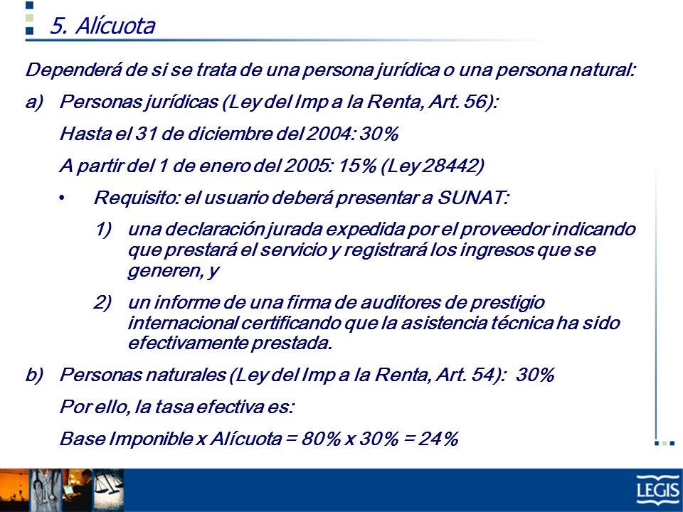Dependerá de si se trata de una persona jurídica o una persona natural: a)Personas jurídicas (Ley del Imp a la Renta, Art. 56): Hasta el 31 de diciemb