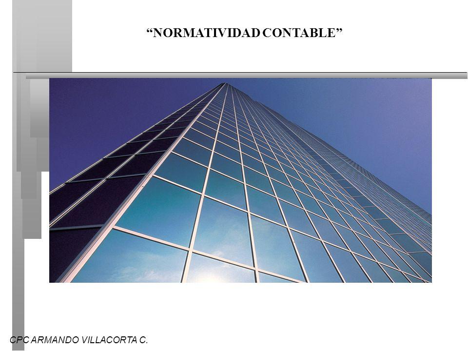 CPC ARMANDO VILLACORTA C. NORMATIVIDAD CONTABLE