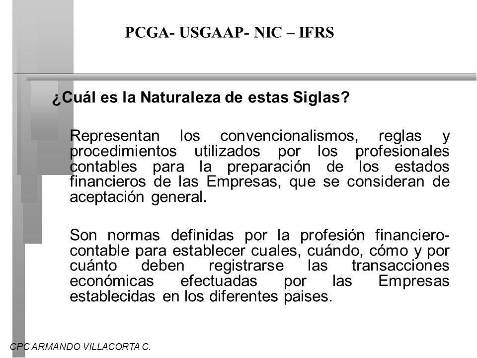 CPC ARMANDO VILLACORTA C.¿HAY MUCHAS DIFERENCIAS ENTRE PGCR Y IFRC.