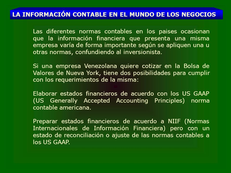 MARCO CONCEPTUAL PARA LA PREPARACION Y PRESENTACION DE LOS ESTADOS FINANCIEROS Abril de 1989