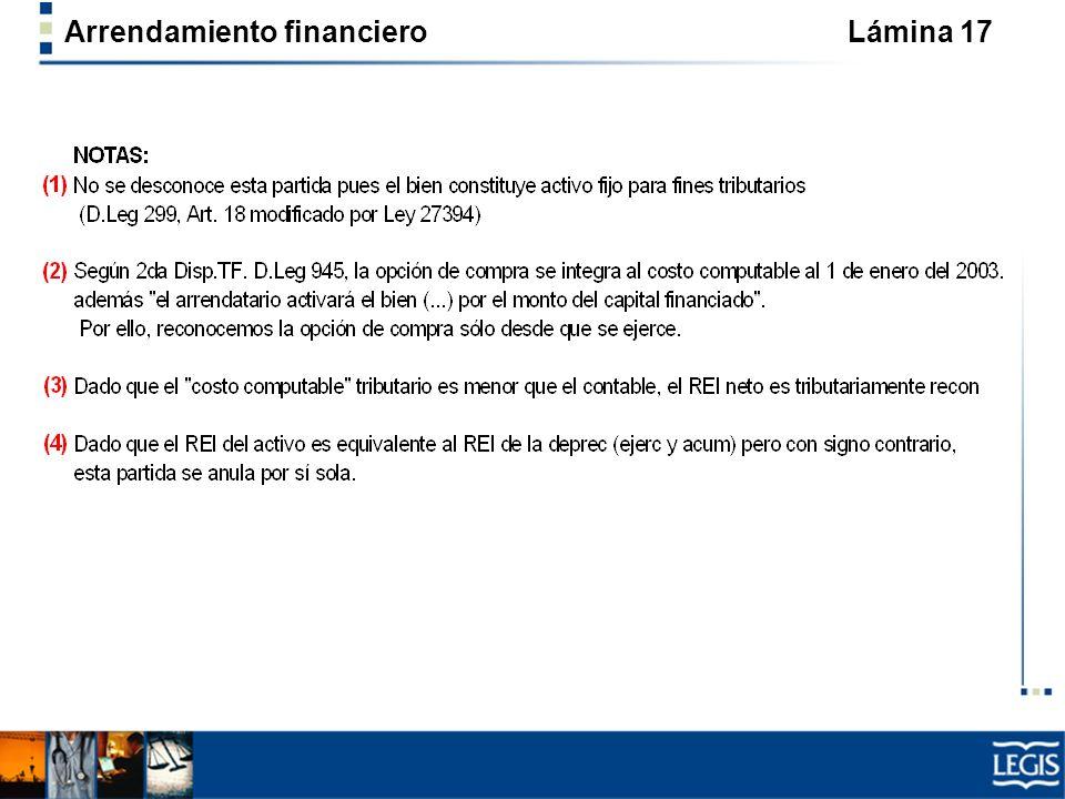 Arrendamiento financiero Lámina 17
