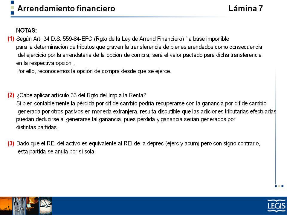 Arrendamiento financiero Lámina 18