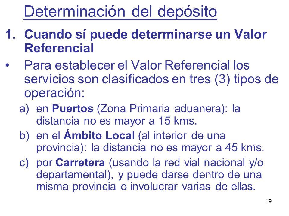 19 1.Cuando sí puede determinarse un Valor Referencial Para establecer el Valor Referencial los servicios son clasificados en tres (3) tipos de operac