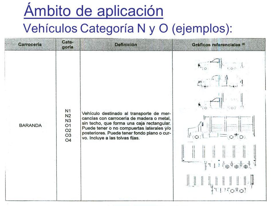 27 Determinación del depósito Ejemplos de Configuración Vehicular La Configuración Vehicular ha sido establecida por el D.