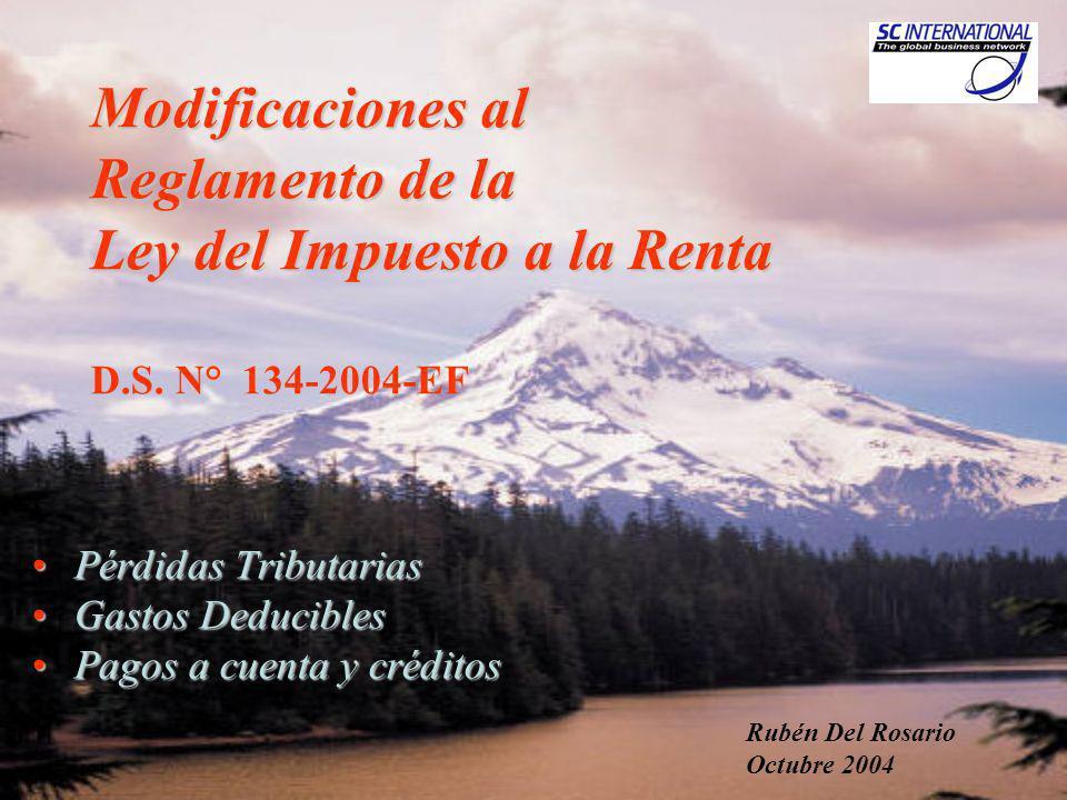 Rubén Del Rosario2 Pérdidas Netas Compensables (PNC) Pérdidas Netas Compensables (PNC) LIR, Art.50° - D.Leg.