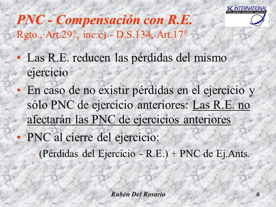 Rubén Del Rosario17 Pérdidas Tributarias al 31.12.2003 (2002 y 2003) Compensadas a partir del ejercicio 2003 COMPENSACIONINTEGRAL