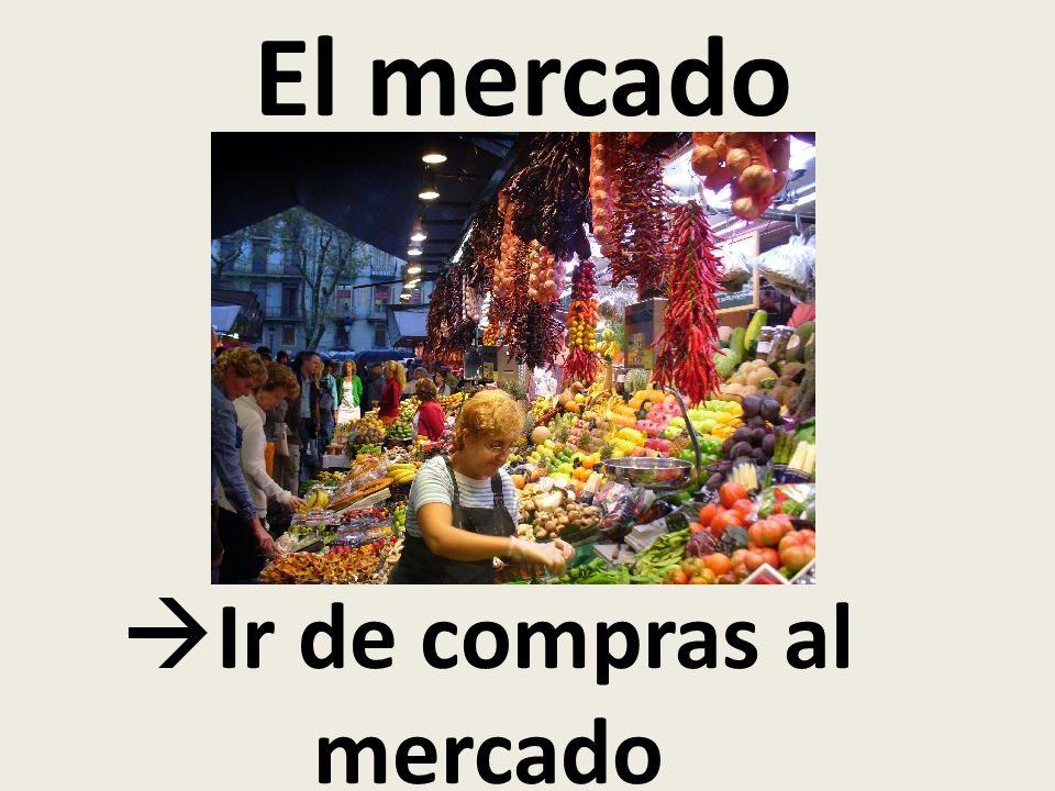 El mercado Ir de compras al mercado