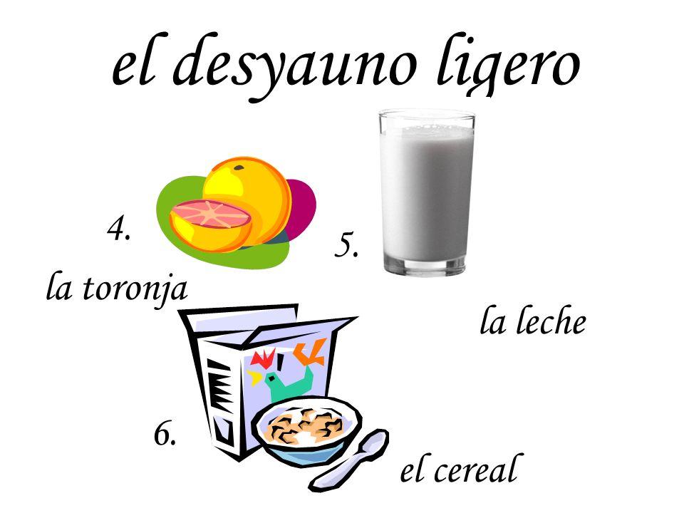 el desyauno ecuatoriano la piña el plátano el mango la papayael pan dulce 7. 9. 8. 10. 11.