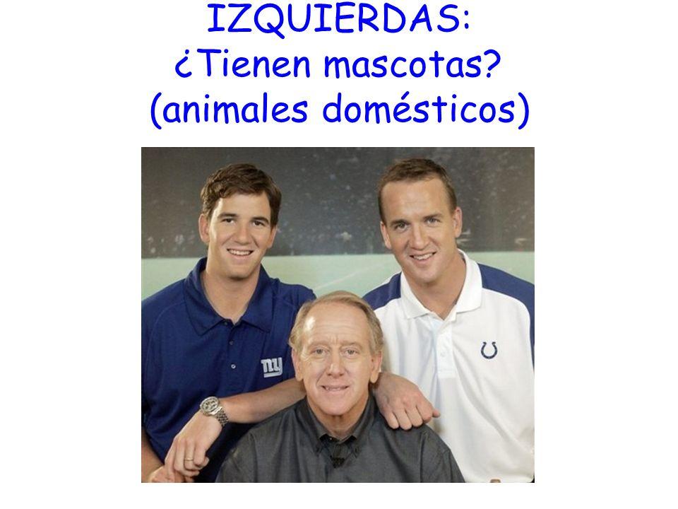 IZQUIERDAS: ¿Tienen mascotas (animales domésticos)