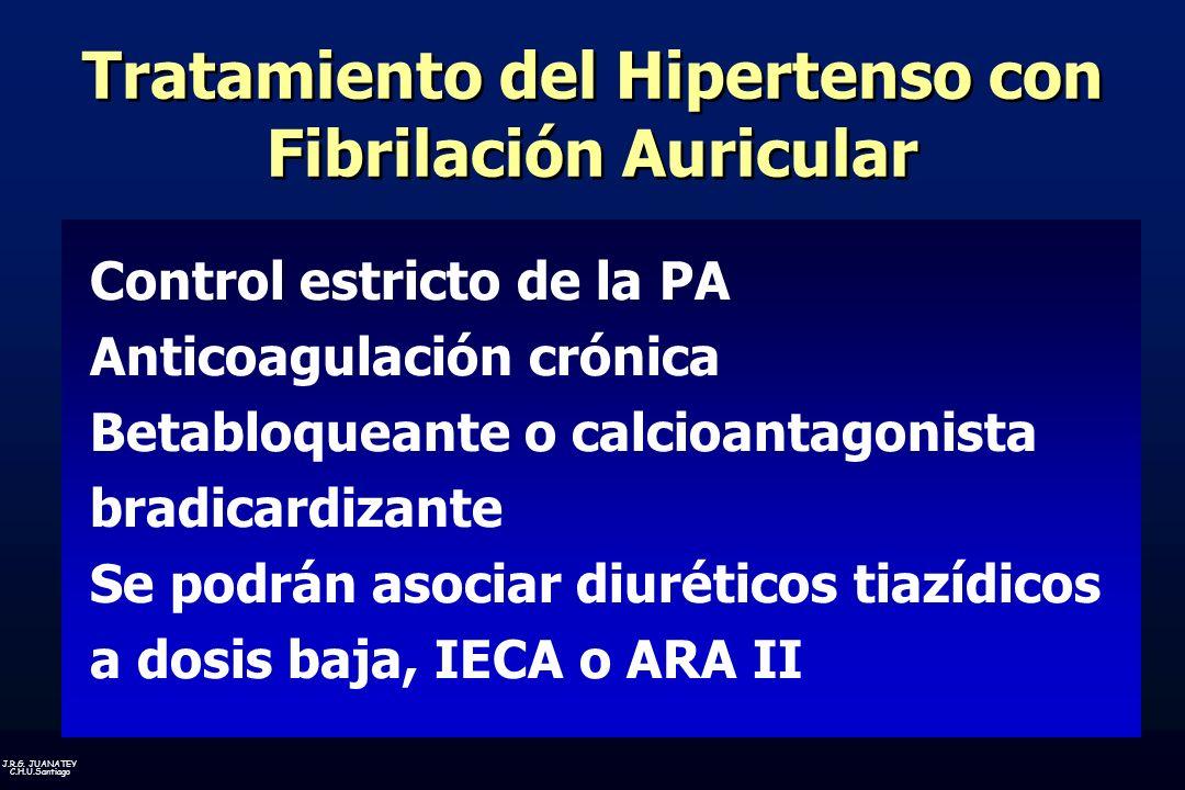 J.R.G. JUANATEY C.H.U.Santiago Tratamiento del Hipertenso con Fibrilación Auricular Tratamiento del Hipertenso con Fibrilación Auricular Control estri